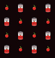 seamless pattern with tomatoes and tomato soup vector image