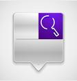 search magnifyier web button magnify icon modern vector image