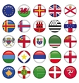 set european round flag icons vector image vector image