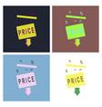 set of big sale banner ribbon vector image