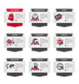 set of web thumbnails with e commerce symbols vector image vector image