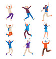 set young dancing people with modern music vector image