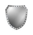 shield silver gray icon shape emblem vector image vector image