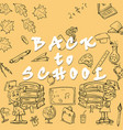 sketch school theme design of school subjects and vector image
