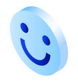 smile icon isometric style vector image