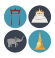 songkran festival icons vector image vector image