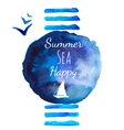 Summer sea watercolor background vector image vector image