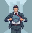 superhero changing suit vector image