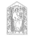 the madonna enthroned can be found in the vector image vector image