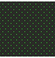 Tile pattern green polka dots on black background vector image vector image