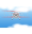 Vintage Civil Light Airplane vector image vector image