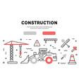 webconstruction flat line design banner vector image