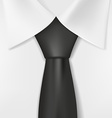 white shirt and black tie vector image vector image