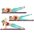 workout training vector image