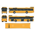 yellow bus template vector image vector image