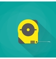 yellow industrial measure tape icon vector image