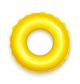 yellow rubber ring for swimming vector image