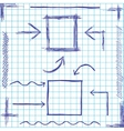 Arrows and frames sketchy design vector image
