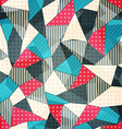 fabric pieces seamless pattern vector image