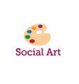 social art concept vector image