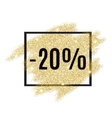 20 percent off discount promotion tag