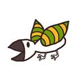 A view of bird vector image vector image