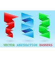 Abstract origami banner vector image