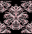 abstract pink vintage floral seamless pattern vector image vector image