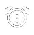 alarm clock time alert bell hour concept vector image