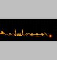 amman light streak skyline vector image vector image