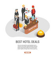 best hotel deals web banner template vector image
