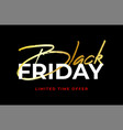 black friday gold sale banner minimal style vector image vector image
