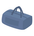 blue travel hand bag icon isometric style vector image