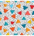 bright colored triangles in white background vector image vector image