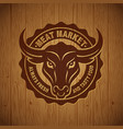 butchery meat market logo vector image