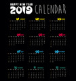 calendar 2019 and happy new year background vector image vector image
