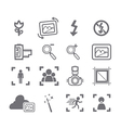 Camera icons menu vector image vector image