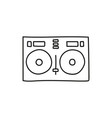 cartoon hand drawn dj remote vector image