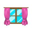 cartoon window with curtains symbol icon design vector image vector image