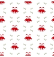 Christmas background with bells seamless pattern vector image