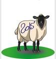 Christmas lamb vector image vector image