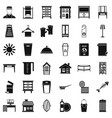 cleaning service icons set simple style vector image vector image