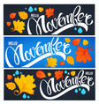 collection of hello november welcome season vector image vector image