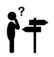 Confusion People with Navigation Arrows and vector image