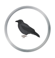 Crow icon in cartoon style isolated on white vector image