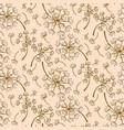 dandelion pink pastel seamless pattern vector image