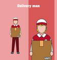 delivery man cartoon vector image