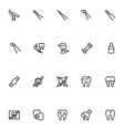Dental Line Icons 5 vector image