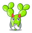 devil beautiful opuntia cactus in the garden vector image