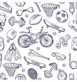 doodles hand drawn seamless pattern vector image vector image